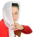 Young girl with head scarf. Portrait of young girl in eastern dress Stock Photography