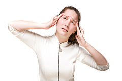 Young girl with a headache Stock Photography