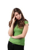A young woman headache Stock Photography