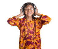 Young Girl With Headphone I Royalty Free Stock Photo