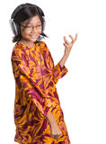 Young Girl With Headphone V Stock Images