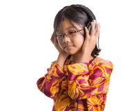 Young Girl With Headphone VI Stock Image