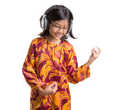 Young Girl With Headphone VII Stock Photos