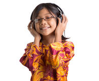 Young Girl With Headphone VIII Stock Images