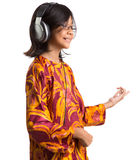 Young Girl With Headphone XI Royalty Free Stock Photo