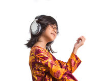 Young Girl With Headphone XIII Royalty Free Stock Photos