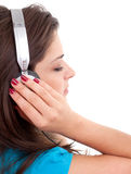 Young girl in headphones Royalty Free Stock Image