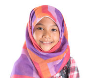 Young Girl With Headscarf And Backpack II Royalty Free Stock Photo