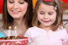 Young girl on her birthday Stock Photo