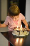 Young girl on her birthday Stock Image