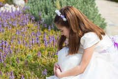 Young girl in her First Communion Royalty Free Stock Images