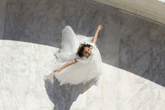 Young girl in her First Communion Stock Photo