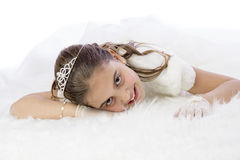 Young girl in her First Communion Stock Photography