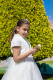 Young girl in her First Communion Royalty Free Stock Image