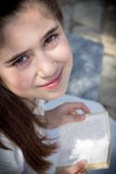 Young girl in her First Communion Stock Images