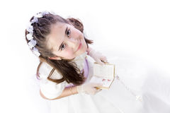Young girl in her First Communion Royalty Free Stock Photography