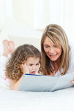 Young girl and her grandmother Stock Image