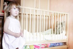 Young girl in her room Royalty Free Stock Photography