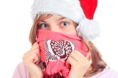 A young girl hides her face Stock Photography