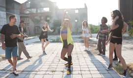 Young girl hip hop or street dancer Stock Photography