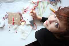 Young girl hobby Royalty Free Stock Photography