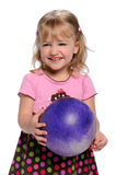 Young Girl Holding Ball Royalty Free Stock Photos
