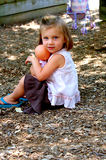 Young girl holding doll Stock Photography