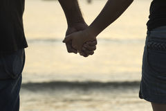 Young girl holding hands Stock Image