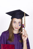Young girl holding her diploma Stock Image