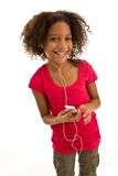 Young girl holding MP3 Player Stock Photography