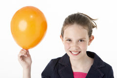 Young Girl Holding Party Balloon Royalty Free Stock Photography