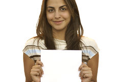 Young girl holding a sign 1 Stock Photography