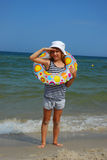 Young girl on holidays Royalty Free Stock Images
