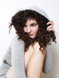 Young girl in hood Stock Photos