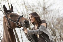 Young girl with a horse Royalty Free Stock Photography