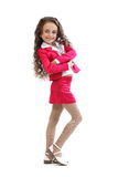 Young girl in hot pink clothes Stock Photos