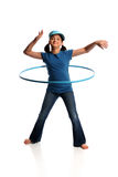 Young Girl With Hula Hoop Royalty Free Stock Images