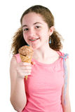 Young Girl With Ice Cream Cone Stock Photo