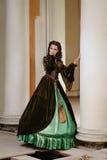 Young girl at the image of Scarlett O'Hara Royalty Free Stock Photo