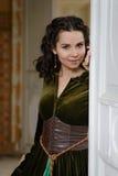 Young girl at the image of Scarlett O'Hara Royalty Free Stock Image