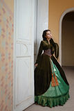 Young girl at the image of Scarlett O'Hara Royalty Free Stock Photography