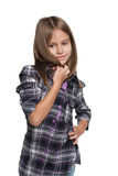Young girl imagines Royalty Free Stock Photography
