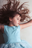 Young Girl Imagining Stock Image