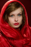 Young Girl In A Red Hood Stock Image