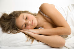 Young Girl In Bed Royalty Free Stock Images