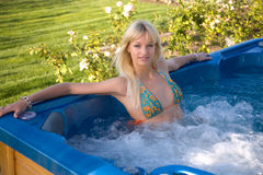 Young Girl In Jacuzzi Stock Photos