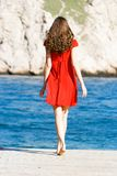 Young Girl In Red Dress Royalty Free Stock Photos