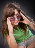 Young Girl In Sun Glasses Royalty Free Stock Images