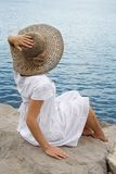 Young Girl In The Bonnet Stock Images