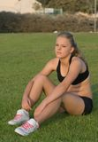 Young Girl In Work-out Clothes Royalty Free Stock Photo